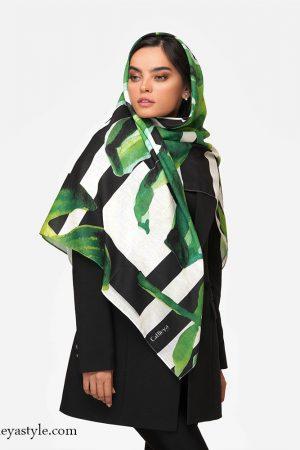 خرید روسری سبز مشکی