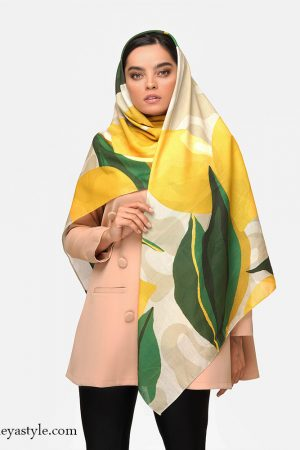 خرید روسری طرح لیمو