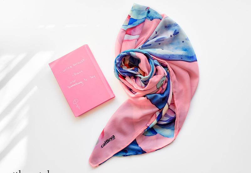 خرید روسری طزح کاکتوس