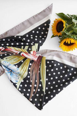 روسری خال خالی پاییزه